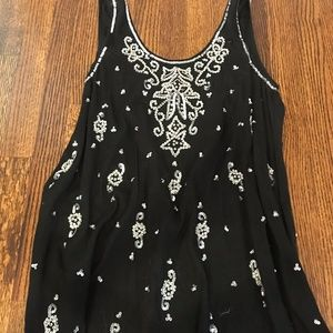 Black A-Line Cocktail Dress with Embellishments